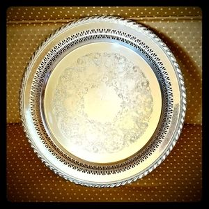 VINTAGE SILVERPLATED TRAY